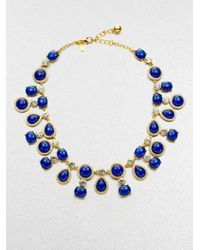 Kate Spade | Blue Moonlit Way Cabochon Collar Necklace | Lyst