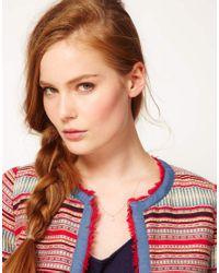 ASOS - Metallic Laura Lee Hammered Sequin Short Necklace - Lyst