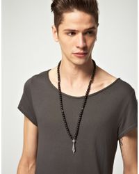 Love Bullets - Black Lovebullets Exclusive To Asos Beaded Mortar Necklace for Men - Lyst