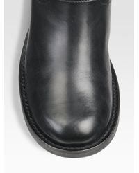 Marina Rinaldi - Black Leather Biker Boots - Lyst