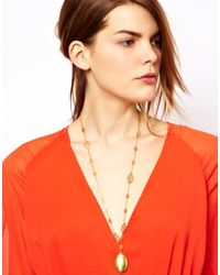 Sam Ubhi - Metallic Locket Leaf Chain Necklace - Lyst
