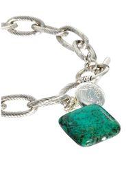 Sam Ubhi - Metallic Turquoise Stone Chunky Chain Bracelet - Lyst