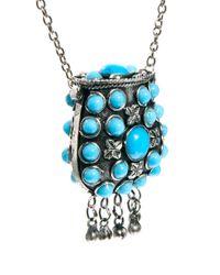 Sam Ubhi - Metallic Embellished Stoned Perfume Bottle Necklace - Lyst