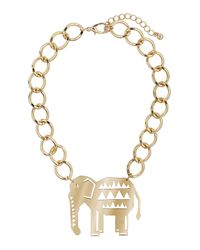 TOPSHOP | Metallic Elephant Collar | Lyst