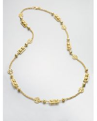 Tory Burch | Metallic Signature Necklace | Lyst
