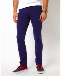 Vans | Jeans V76 Skinny Fit Blue Overdye for Men | Lyst