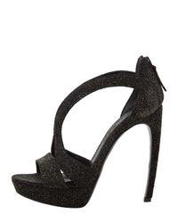 Alexander McQueen - Black Structured-toe Snakeskin Pumps - Lyst