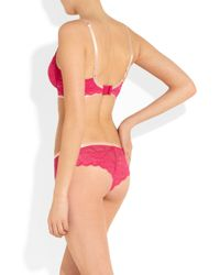 Elle Macpherson - Pink Cloud Swing Lace Thong - Lyst