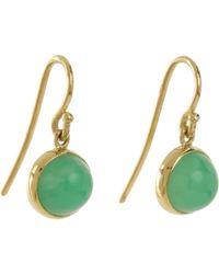 Finn - Green Chrysoprase Cabochon Earrings - Lyst