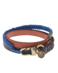 J.Crew | Brown Caputo Co Triple Wrap Leather Bracelet for Men | Lyst