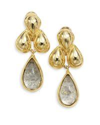 Kara Ross - Metallic Water Snakeskin Resin Cast Cluster Teardrop Earrings - Lyst