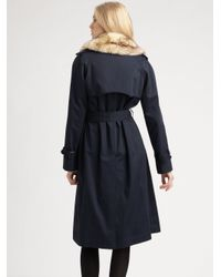 Marc By Marc Jacobs - Blue Penn Trenchcoat - Lyst