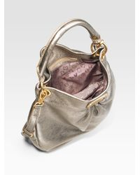 Marc By Marc Jacobs | Classic Q Metallic Leather Hillier Hobo Bag | Lyst