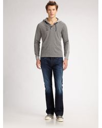 Number:lab - Blue Pullover Cotton Hoodie for Men - Lyst