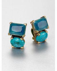 Stephen Dweck | Blue Agate Turquoise Clipon Earrings | Lyst