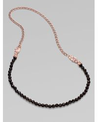 Stephen Webster - Pink Smoky Quartz, Rose Quartz and Chain Necklace - Lyst