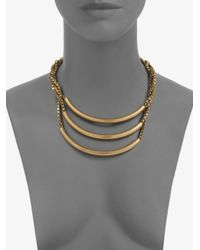DANNIJO - Metallic Brass Triple Bar Necklace - Lyst