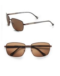 Ermenegildo Zegna | Brown Classic Metal Rectangle Sunglasses for Men | Lyst