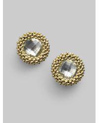 Lagos | Metallic White Topaz 18k Gold Stud Earrings | Lyst