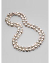 Majorica - 12mm White Baroque Pearl Necklace - Lyst