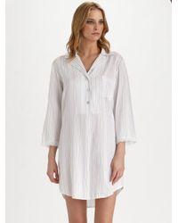 Oscar de la Renta - White Sweet Simple Sleepshirt - Lyst