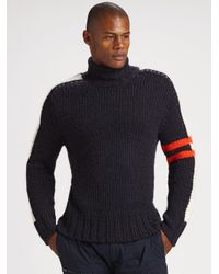 RLX Ralph Lauren - Blue Astro Stripe Turtleneck Sweater for Men - Lyst