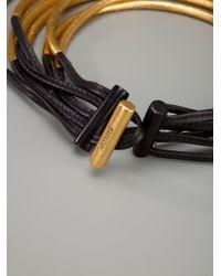 Monies - Metallic Curved Wood Collar - Lyst