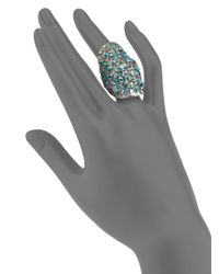 Clara Kasavina | Blue Fiona Textured Knuckle Ring | Lyst