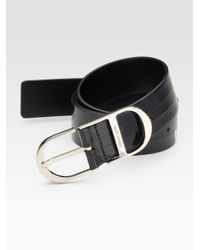 Dior Homme | Blue Patent-trim Leather Belt for Men | Lyst