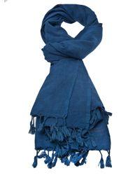 Dosa - Blue Cotton Shawl - Lyst