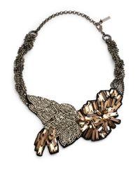 Elie Tahari | Metallic Vivian Necklace | Lyst