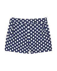 J.Crew - Blue Nofolk Polkadot Linen and Cotton blend Shorts - Lyst