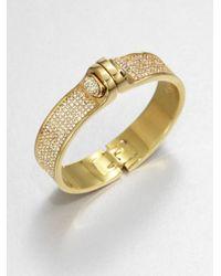 Kara Ross | Metallic Pave Hinged Bracelet | Lyst