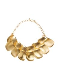 Kenneth Jay Lane | Metallic Statement Disc Necklace | Lyst