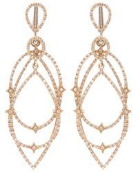 Loree Rodkin   Metallic Gold Diamond Star Hoop Earrings   Lyst