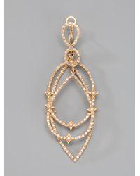 Loree Rodkin | Metallic Gold Diamond Star Hoop Earrings | Lyst