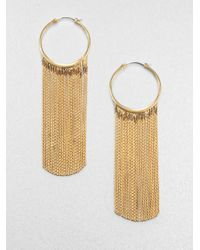 Michael Kors | Metallic Fringe Hoop Earrings | Lyst