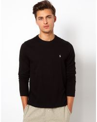 Polo Ralph Lauren | Black Long Sleeve Top Regular Fit for Men | Lyst