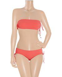 Shimmi - Orange Stella Bandeau Bikini - Lyst