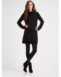 Theory - Black Shad Wool-blend Turtleneck Sweater Dress - Lyst
