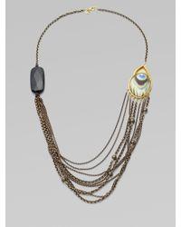 Alexis Bittar - Metallic Multichain Peacock Necklace - Lyst