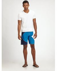 Burberry Sport | Blue Swim Trunks for Men | Lyst