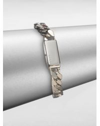 Gucci - Metallic Sterling Silver Stripes Bracelet for Men - Lyst