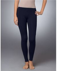 Hue - Blue Stretch Cotton Leggings - Lyst