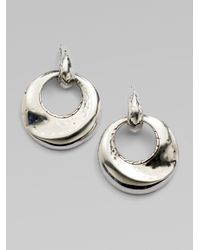 John Hardy - Metallic Sterling Silver Door Knocker Earrings - Lyst