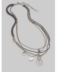 Juicy Couture - Metallic Multistrand Bow Necklace - Lyst