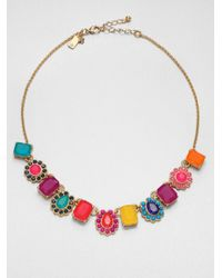 kate spade new york | Multicolor Run Around Bead Necklace | Lyst