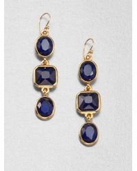 Kate Spade | Blue Geometric Drop Earrings | Lyst