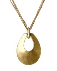 Kenneth Cole | Metallic Sculptural Pendant Necklace | Lyst