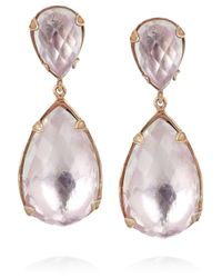 Larkspur & Hawk - Pink Prong 22karat Rose Golddipped Topaz Drop Earrings - Lyst